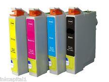4 X CARTUCCE getto d'inchiostro (ALTO TAPPO) Non-OEM PER EPSON T1291,T1292,T1293
