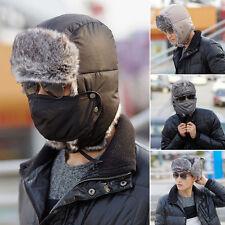 Skimütze Sonnenblende Uschanka Pilot Trapper Windschutz Wintermütze mit Maske