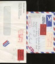Livraison express 1983-85 USA compteur frankings + étiquettes pod57... 2 couvre