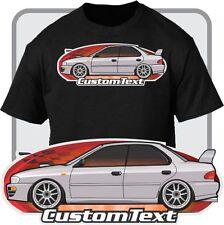 Custom Art T-Shirt for 93 94 95 96 97 98-2000 Subaru Impreza AWD 2.5RS WRX Sedan