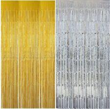 Lametta Vorhang 100 x 250 cm (silber) oder 92 x 250 cm (gold)  Party Deko   NEU
