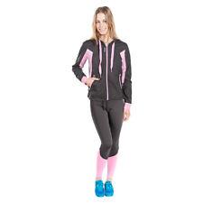 Women's training set Reebok Tracksuit Mesh Black Pink Running Sports