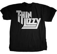 THIN LIZZY CLASSIC LOGO BAND METAL ROCK ROISIN DUBH BLACK MUSIC T TEE SHIRT