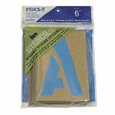 "Large Alphabet Stencils Letters 6"" Stencil Oil Board Numbers Symbols Reusable"