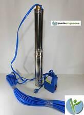 Pompa elettropompa sommersa pozzi e cisterne cavo 30 mt + quadro HP 1 - 1,5 - 2