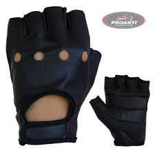 Chopperhandschuhe fingerlose Lederhandschuhe Chopper Auto Biker Handschuhe S-XXL