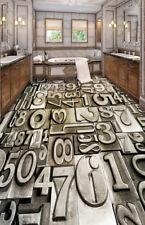 3D Metal Number 43 Floor WallPaper Murals Wall Print Decal AJ WALLPAPER CA