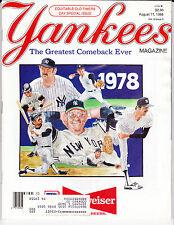 NEW YORK YANKEES BASEBALL MAGAZINE Apr 11 1988 OLD TIMERS DAY JACK CLARK POSTER