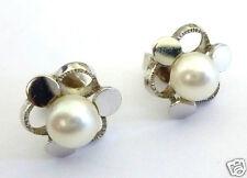 Goldohrringe Perle 585er Weißgold WG Ohrstecker Perlenohrstecker Perlenohrringe