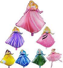 30``Disney Girl Birthday Party Princess Cinderella Elsa Foil Helium Air Balloon