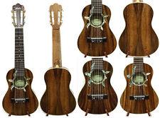Alulu Solid Acacia Koa Classical Head Tenor Guitarlele Turtle Abalone Inlay  HU