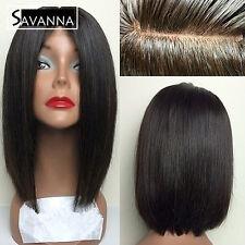 Short Bob Lace Front Wig Brazilian Remy Human Hair Full Lace Wigs Black Women 8A