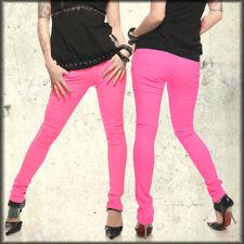 Lip Service Rock N Roll Skull Womens Junkie Skinny Jeans Hot Pink $100 NEW 25-32