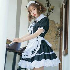 Women French Maid Fancy Dress Costume Outfit Waitress Uniform Plus Size