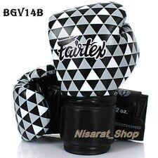 Fairtex Boxing Gloves Bgv14B Black And White Muay Thai Mma Vintage Sparring