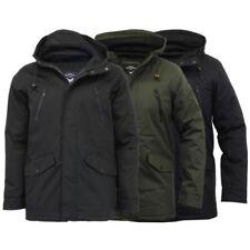 Mens Jacket Brave Soul Coat Padded Windbreaker Mesh Hooded Lined Casual Winter