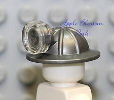 NEW Lego City Minifig GRAY MINING HELMET - Miner Hat/Cap w/Clear Head Lamp/Light