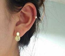Pineapple Earrings unique stud earrings statement earrings silver, fun earrings