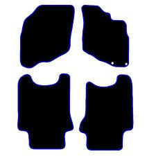 Tailored Black Car Floor Mats Carpets Honda Jazz 2002-2008 Blue or Red Edging