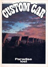Custom Car Aug 1979 - Zodiac, Magnum, Opel, Porsche
