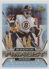 2005-06 Upper Deck NHL Finalist #63 Andrew Raycroft Boston Bruins Hockey Card