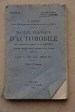 Libro antico Manuale pratica d'automobile 1929 magneto code della route auto