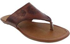 """Womens 781 Boho Flip Flops Style Genuine Leather Huarache Sandal Brown"""