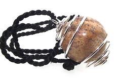 Amarillo jaspe piedras preciosas de cristal esfera Espiral Colgante