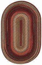 Capel Rugs Portland Wool Casual Country Braided Oval Throw Rug Mocha #700