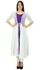 Bimba Women 2 Piece Kurta Kurti Designer Wear Boho Long Shrug Dress Clothing