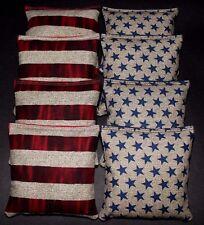Stars and Stripes Patrotic USA Freedom 8 ACA Regulation Corn Hole Game Bags