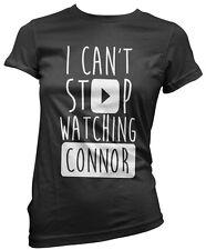 No puedo dejar de ver Connor-vlogger Star youtubers Niñas Camiseta Muchos Tamaños