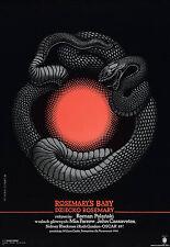 Rosemary'S Baby Movie Poster Horror Polish Art Rare