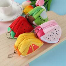 Cute Fruit Plush Children Coin Purse Mini Portable Women Zip Wallet Pouch Bag
