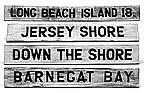 Wooden NJ Shore Vintage Style Mileage Signs