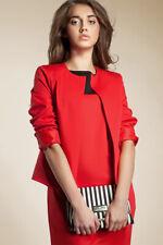 Veste ouverte rouge de tailleur femme courte chic boléro Z02 NIFE 36 38 40 42 44