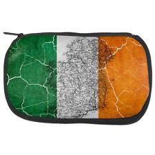 St Patrick's Day Vintage Irish Map Flag Distressed Makeup Bag