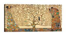 Quadro Klimt L'Albero della Vita Stampa su Tela Canvas Vernice Effetto Dipinto