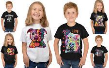Pit Bull Kindershirt - buntes Hunde Motiv T-Shirt Kinder Pitbull Hundeshirt Hund