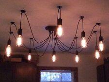 Retro-Chic Edison 6 Wire Filament Bulb Chandelier Adjustable * US Seller