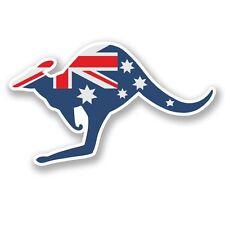 2 x Australia Canguro Adesivo Vinile Portatile da Viaggio Bagaglio Auto #5812
