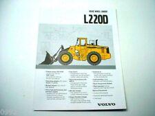 Volvo BM L220D Wheel Loader Brochure