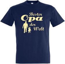 "T-Shirt ""Bester Opa der Welt"" S - 5XL Opi Grandpa Vater Dad Eltern Sohn Tochter"