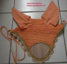 Fliegenhaube mit Ohren , apricot/sand, Gr. Warmblut