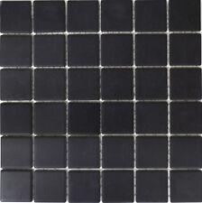 Mosaik Keramik schwarz Bad Pool Wand rutschhhemmend | 14B-0303-R10_f |10 Matten