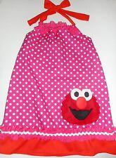 Girls Sesame Street Elmo Halter Dress Handmade Toddler Various Sizes NEW