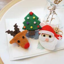 Fermagli In Feltro Per Bambine Dai 2 Ai 16 Anni Tema Natale