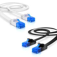 CAT 6 Patchkabel Netzwerkkabel Flachkabel Ethernet LAN Flach Kabel   0,25m - 30m
