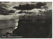 vecchia cartolina di taranto  tramonto al lungomare
