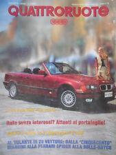 Quattroruote 454 1993 Tutto sulla BMW 325 Cabrio.Come va e com'è la MercedesC180